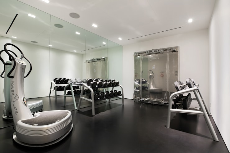 Hyde Park Mews:  Gym by Gregory Phillips Architects