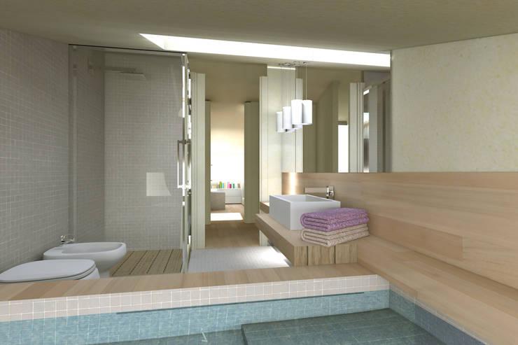ambienti di qualità in piccoli spazi: Bagno in stile  di Giussani Patrizia