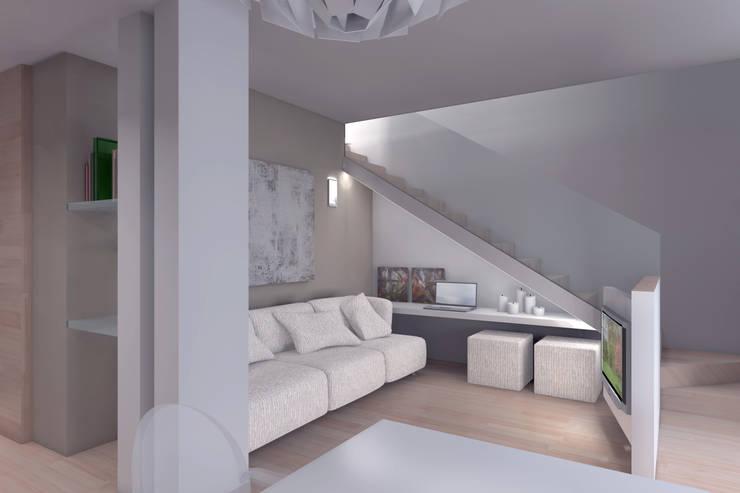 ambienti di qualità in piccoli spazi: Soggiorno in stile  di Giussani Patrizia