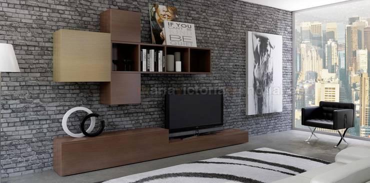 Composición de televisión IIII de MUMARQ ARQUITECTURA E INTERIORISMO Moderno