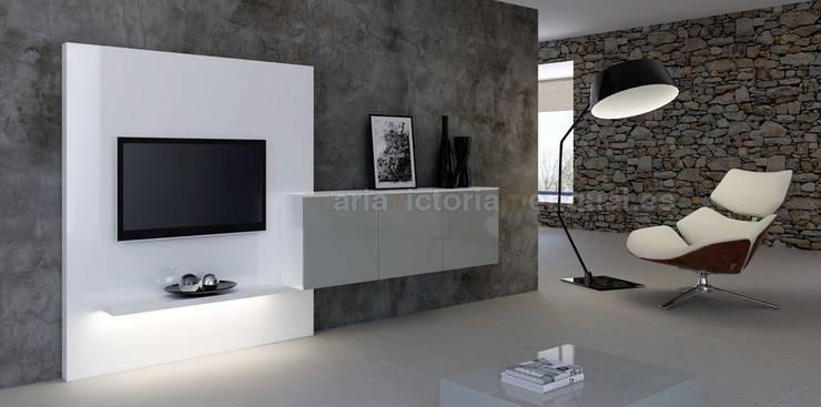 Composición de televisión III de MUMARQ ARQUITECTURA E INTERIORISMO Moderno