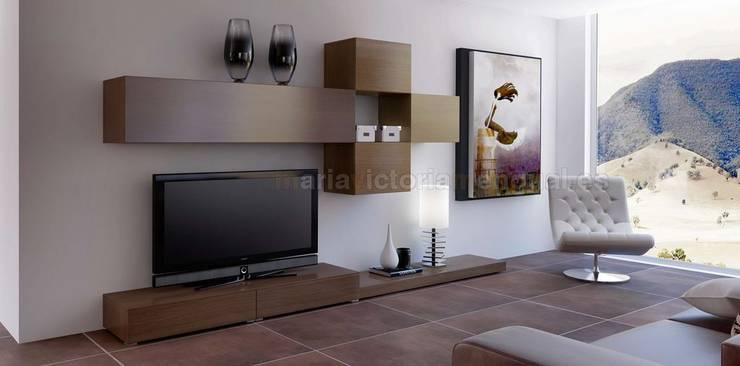Composición de televisión II de MUMARQ ARQUITECTURA E INTERIORISMO Moderno