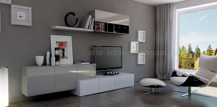 Zona de televisión 1 de MUMARQ ARQUITECTURA E INTERIORISMO Moderno