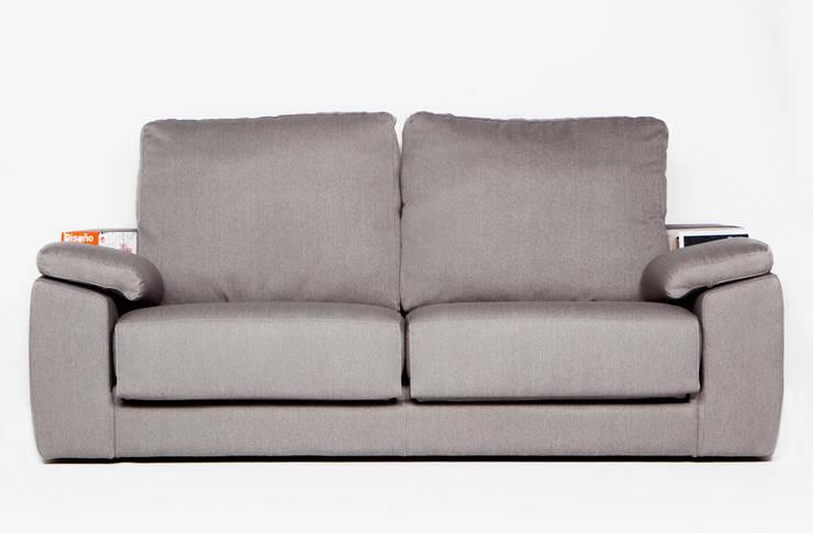 Sofá Connect para KIBUC: Salones de estilo  de Joan Rojeski Studio