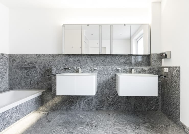 Modern Bathroom by Pientka - Faszination Naturstein Modern
