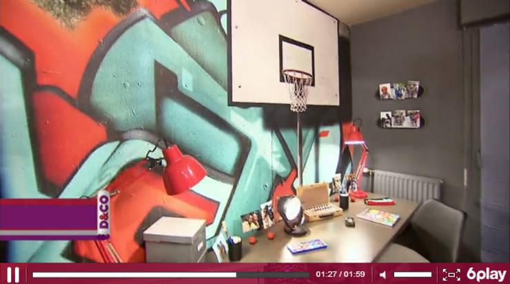 Toile textile murale Yeda sur M6 D&CO: Chambre de style de style Moderne par YEDA