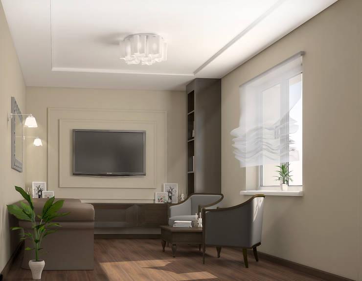 Современный уют: Гостиная в . Автор – AD-studio