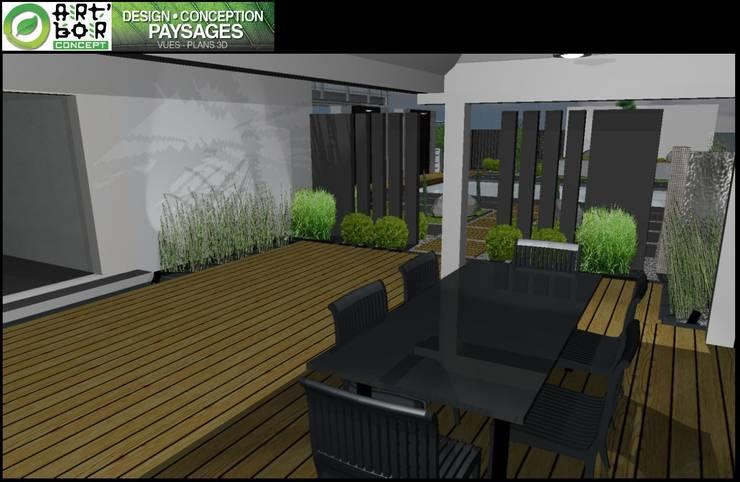 Etude - concept - Paxsage 3D: Terrasse de style  par Art Bor Concept
