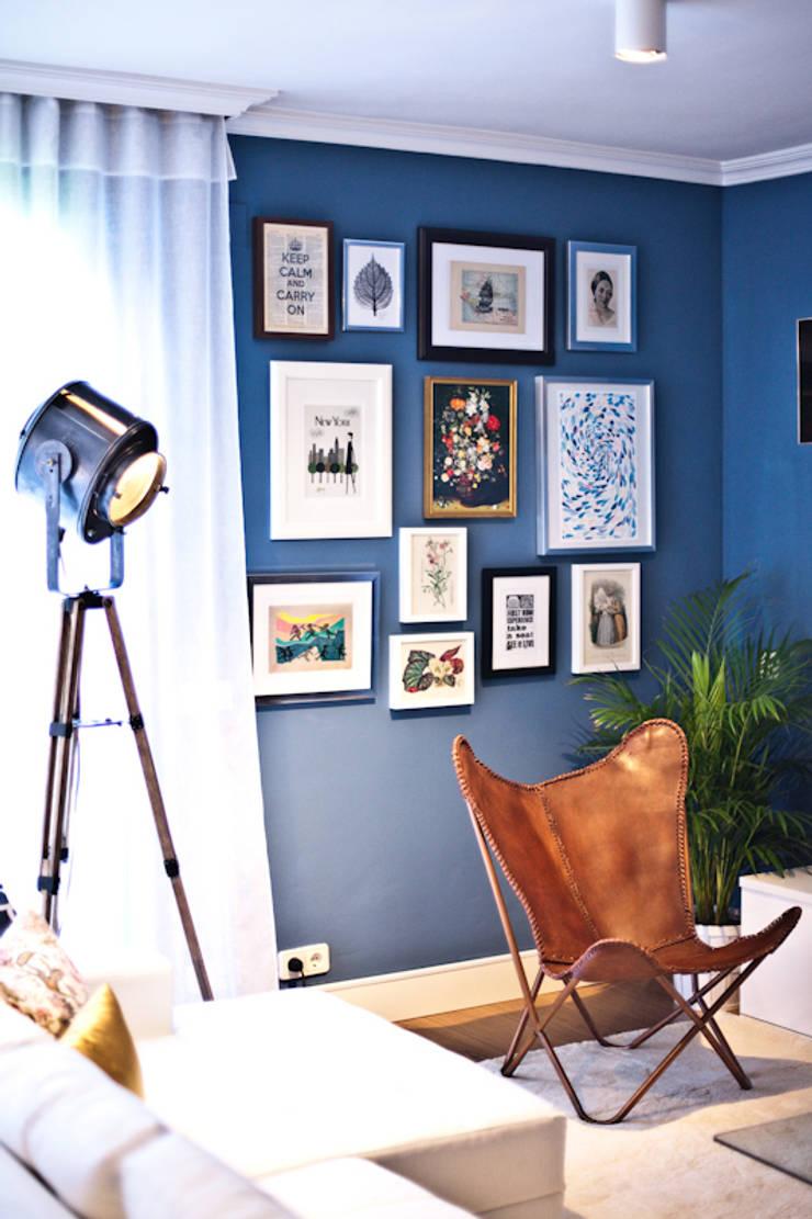 Vivienda en Paracuellos (Madrid): Salones de estilo  de www.rocio-olmo.com