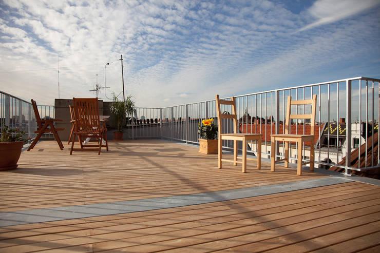 Teak Holzterrasse:  Terrasse von BS - Holzdesign