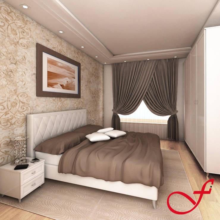 Residenza privata VK: Camera da letto in stile  di Fenice Interiors