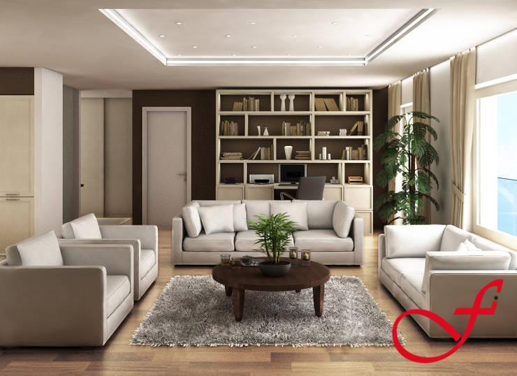 Residenza privata VK: Soggiorno in stile  di Fenice Interiors