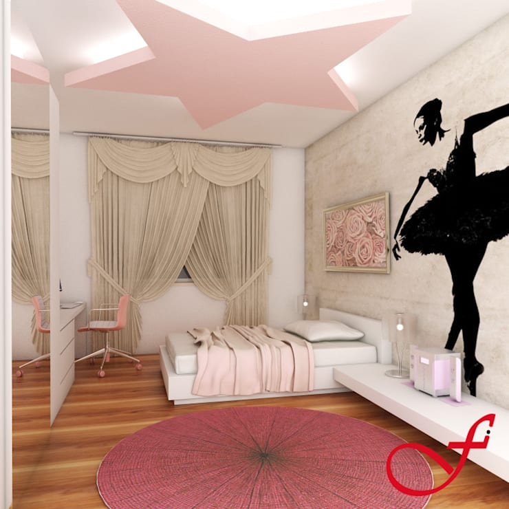 غرفة نوم مراهقين  تنفيذ Fenice Interiors