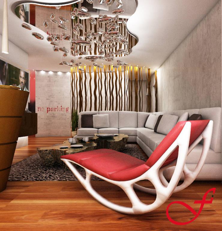 Residenza privata SG: Soggiorno in stile  di Fenice Interiors