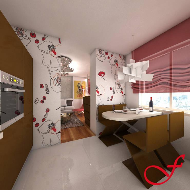 Residenza privata SG: Sala da pranzo in stile  di Fenice Interiors