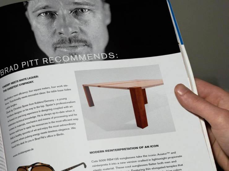 tischdrei Brad Pitt:  Arbeitszimmer von hysenbergh GmbH | Raumkonzepte Duesseldorf