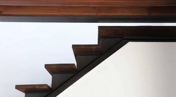 Refugio de montaña: Vestíbulos, pasillos y escaleras de estilo  de Borja Garcia Studio