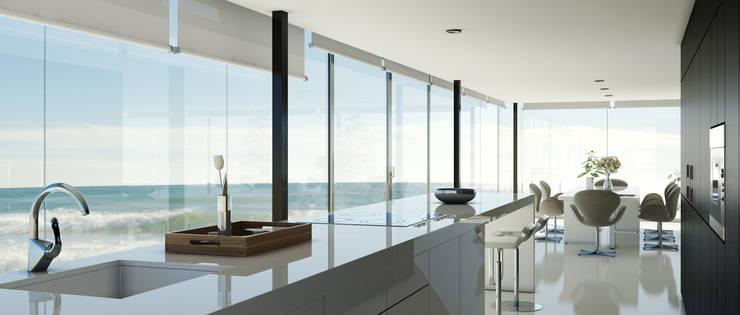 Beach House: Casas de estilo  de Diego3dq