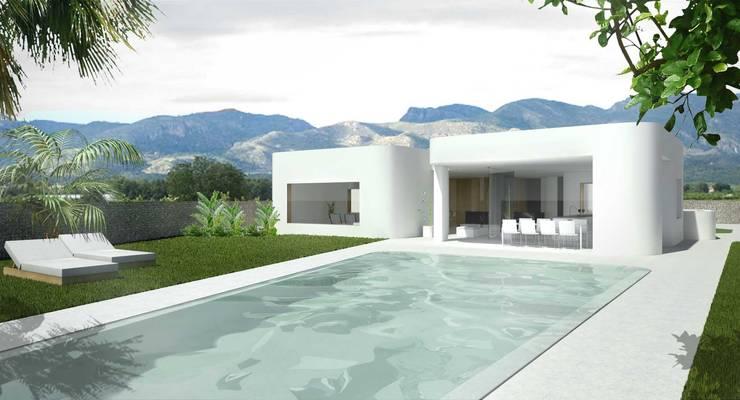 Puzzle: Casas de estilo moderno de Binomio Estudio