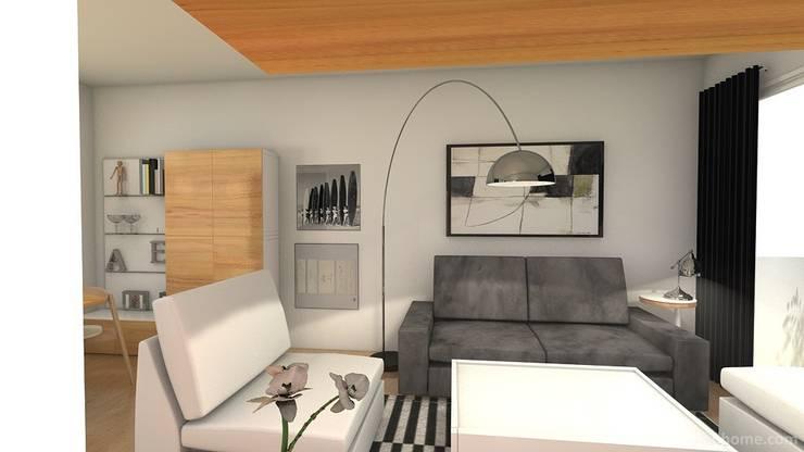Proyecto de decoración de salón Casas de estilo moderno de Tatiana Doria, Diseño de interiores Moderno