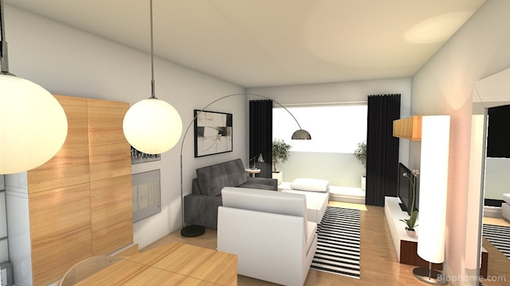 Proyecto de decoració de salón Casas de estilo moderno de Tatiana Doria, Diseño de interiores Moderno