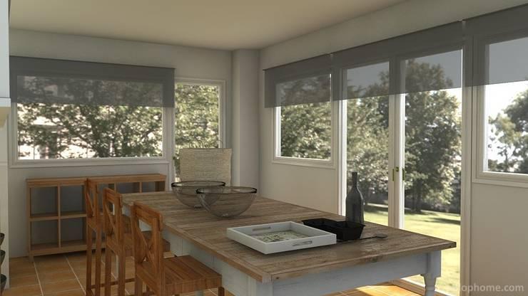 Office de cocina: Cocinas de estilo  de Tatiana Doria,   Diseño de interiores