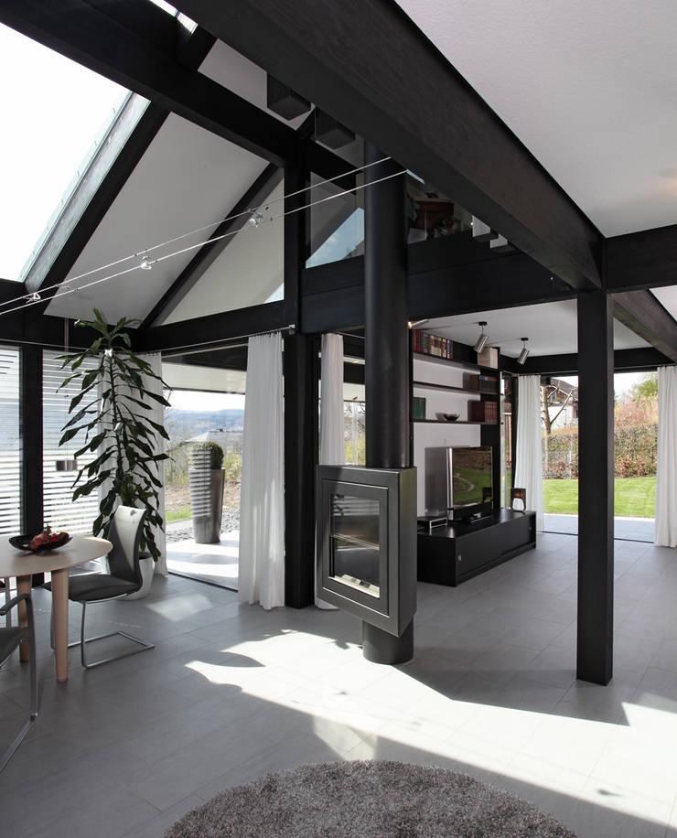 Salones de estilo moderno de DAVINCI HAUS GmbH & Co. KG Moderno
