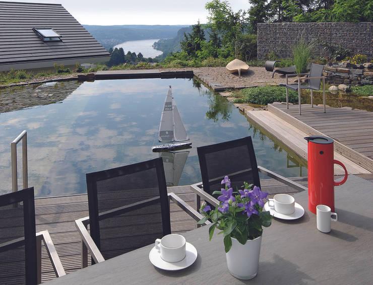 Panoramalage im Siebengebierge:  Garten von DAVINCI HAUS GmbH & Co. KG