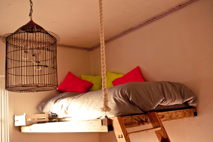 Dormitorios de estilo  por amiko espacios