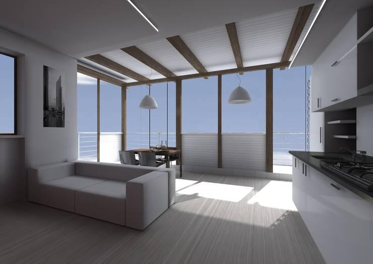 Casa SC - living room: Soggiorno in stile  di Wanda Loizzo Architect