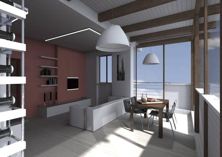Casa SC – living room: Soggiorno in stile  di Wanda Loizzo Architect