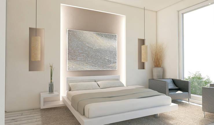 Residenza Privata in New Delhi: Camera da letto in stile  di Barbara Pizzi