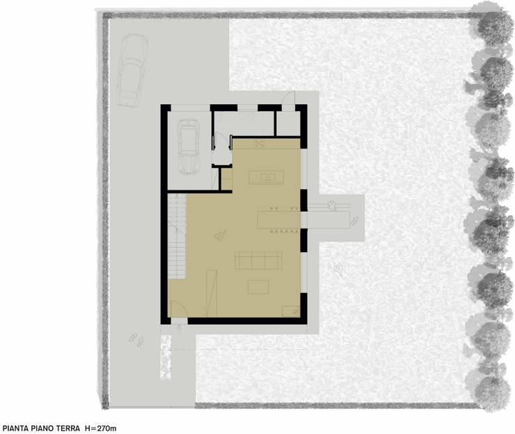 CASA UNIFAMILIARE :  in stile  di  michele gambato  architetto, mgark