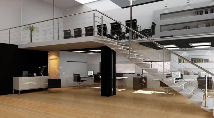 Easy Cable: Vestíbulos, pasillos y escaleras de estilo  de Comenza