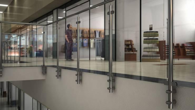 GlassFit by Comenza: Vestíbulos, pasillos y escaleras de estilo  de Comenza