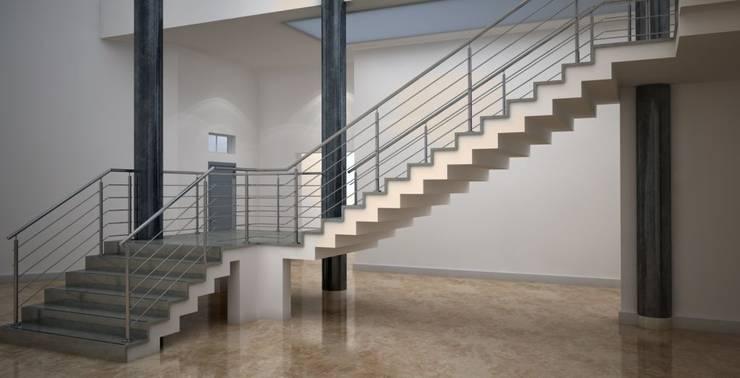 Pasillos, vestíbulos y escaleras  de estilo  por Comenza