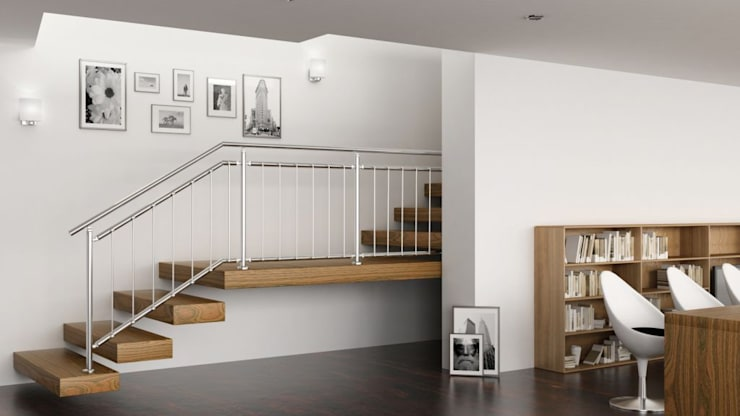 R-Concept: Vestíbulos, pasillos y escaleras de estilo  de Comenza