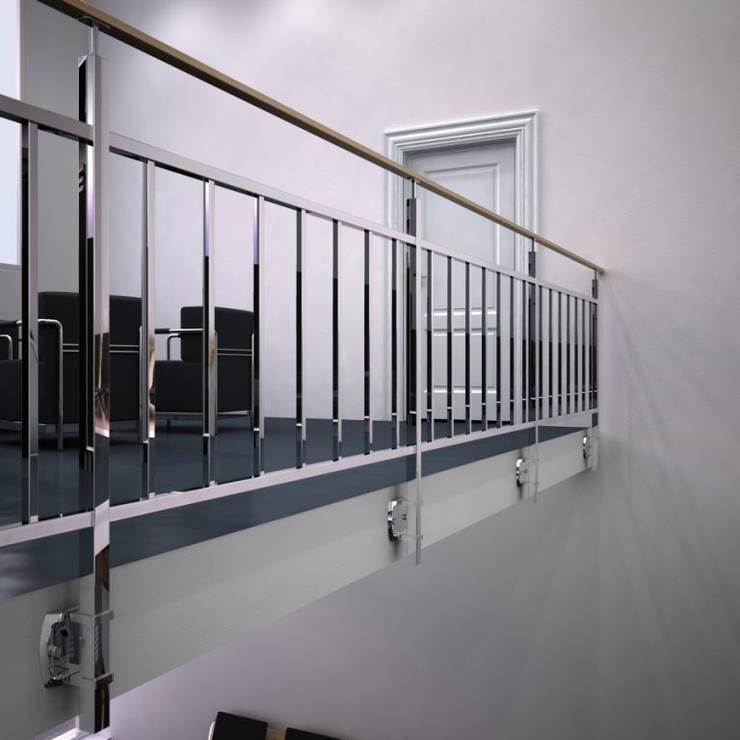 Vestíbulos, pasillos y escaleras de estilo  por Comenza