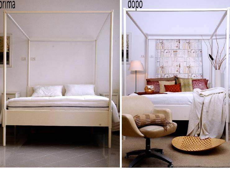 Camera da letto: Camera da letto in stile  di Karisma Home Staging