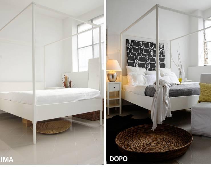 Allestimenti di home staging Camera da letto, : Camera da letto in stile  di Karisma Home Staging