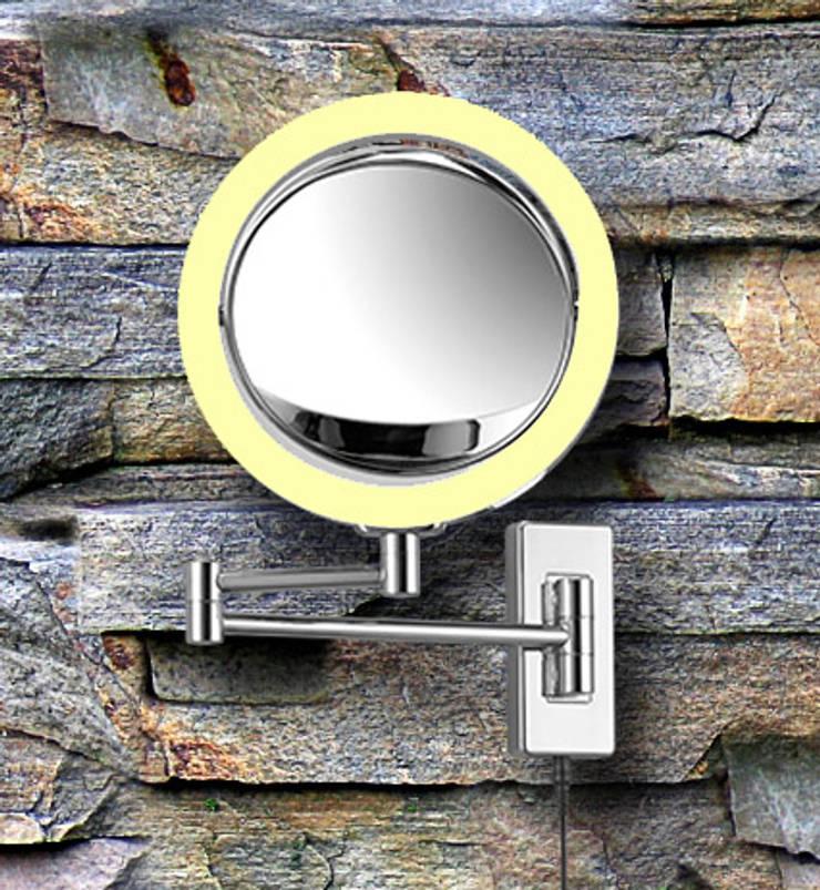Wandspiegel mit Vergrösserung als Rasierspiegel und Kosmetikspiegel verwendbar:  Badezimmer von Kosmetikspiegel - Shop