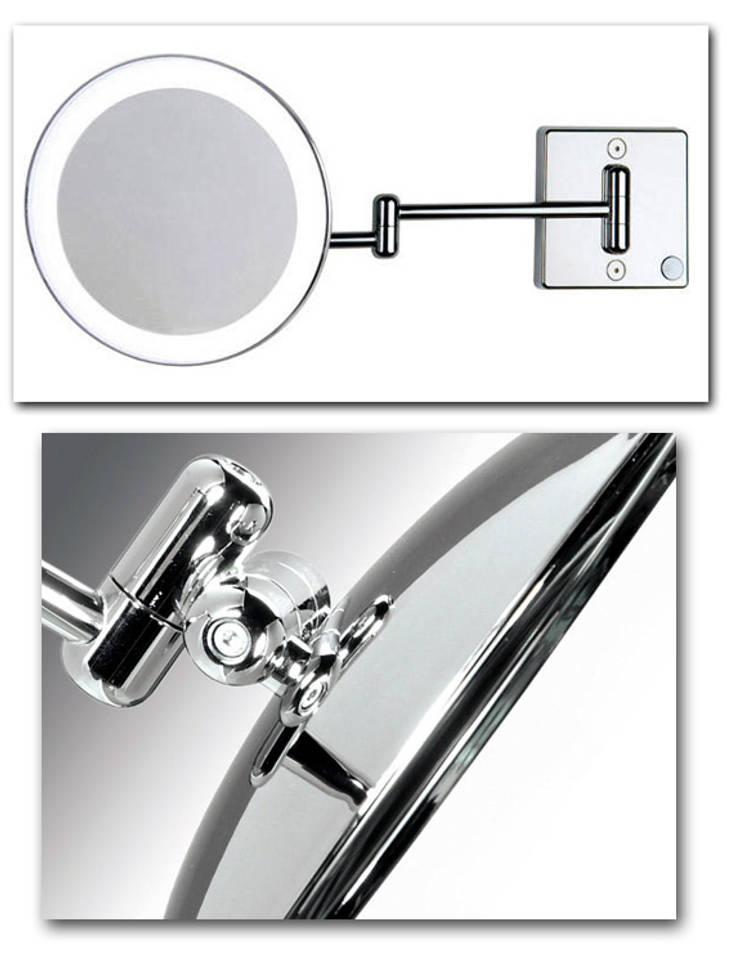 Kosmetikspiegel mit Vergrösserung und Beleuchtung:  Badezimmer von Kosmetikspiegel - Shop