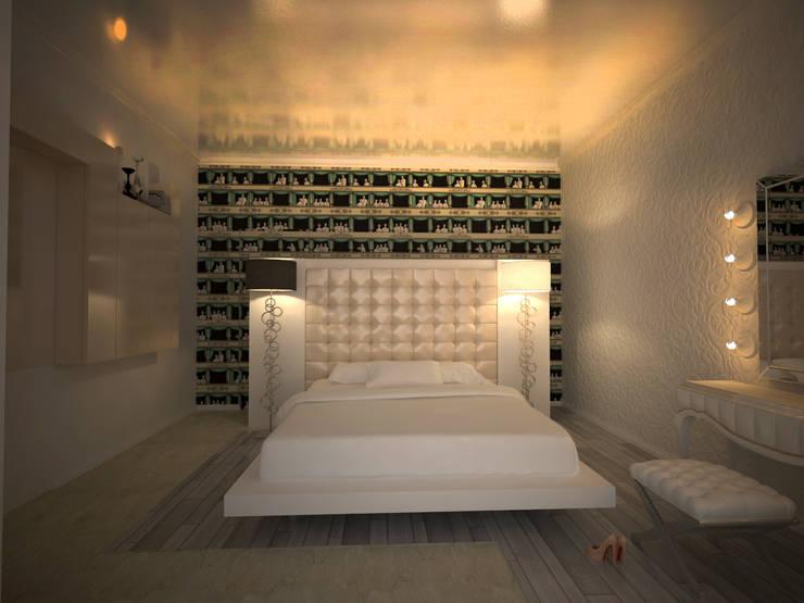 alexander penthouse: Camera da letto in stile  di labzona
