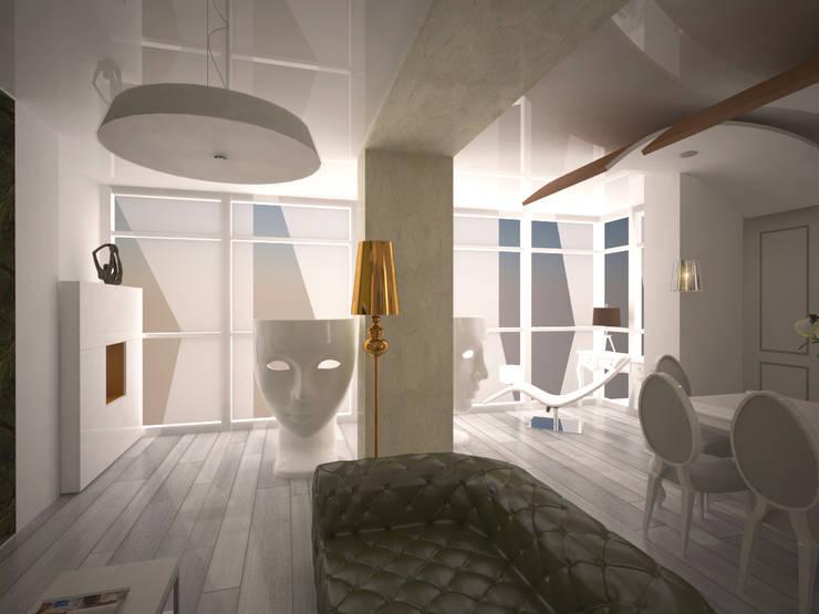 alexander penthouse: Soggiorno in stile  di labzona