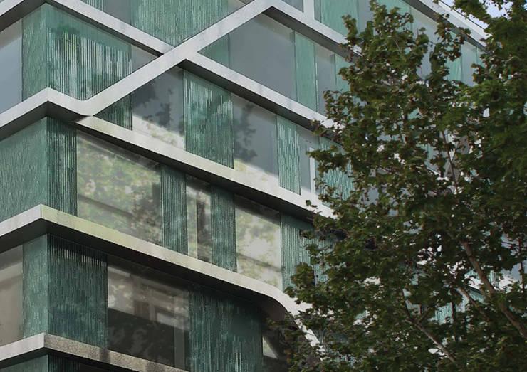 Oficinas Travessera de Gràcia: Oficinas y Tiendas de estilo  de Octavio Mestre Arquitectos