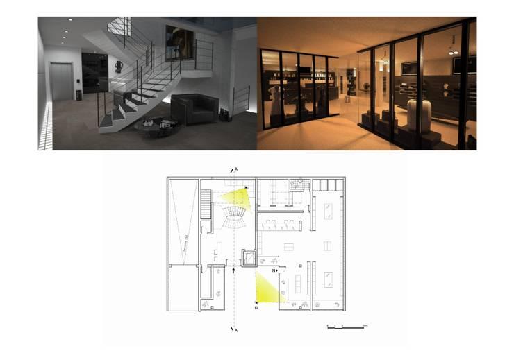 Pasillos y vestíbulos de estilo  por Five Core, Moderno
