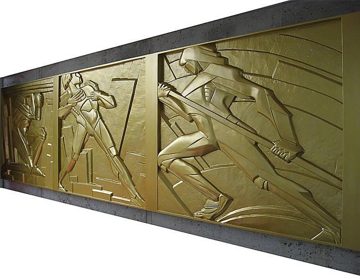 Corridor, hallway & stairs  by Lehmann Art Deco Architekt