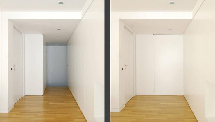 casa m: Ingresso & Corridoio in stile  di morana+rao architetti