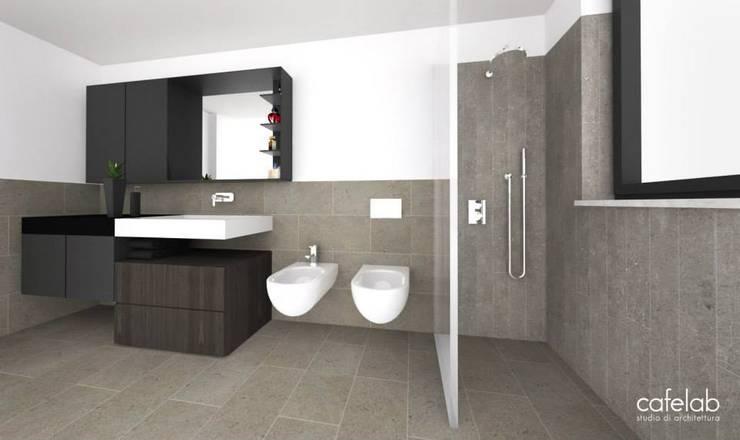 Guest bathroomn: Bagno in stile  di CAFElab studio