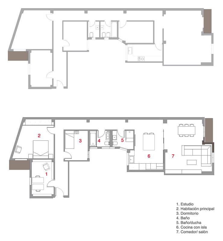Plano Vivienda : Casas de estilo  de Enblanc
